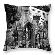 Iron Post Detail Throw Pillow by Perry Webster