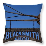 Iron Signage Throw Pillow