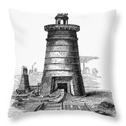 Iron Smelting, C1855 Throw Pillow