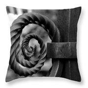 Iron Swirls Throw Pillow