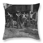 Iron Workers, 1884 Throw Pillow