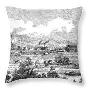 Iron Works, 1855 Throw Pillow