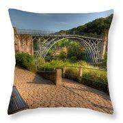 Ironbridge England Throw Pillow by Adrian Evans