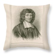 Isaac Barrow, English Mathematician Throw Pillow
