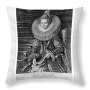 Isabella Clara Eugenia Throw Pillow