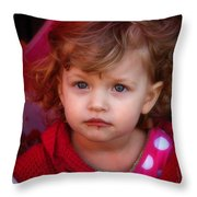 Isabelle - Chocolate Mouth Throw Pillow