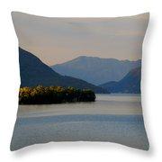 Island And Mountain Throw Pillow