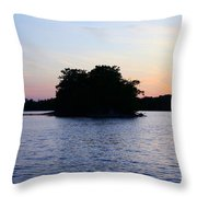Island Evening Throw Pillow