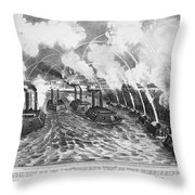 Island Number Ten, 1862 Throw Pillow