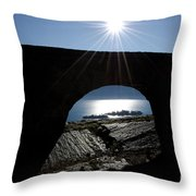 Islands Watched From An Arch Throw Pillow