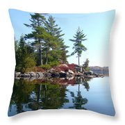 Isle - Natural Reflection Throw Pillow