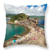 Islet In The Azores Throw Pillow