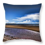 Isolated Beach  Throw Pillow