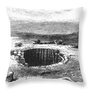 Israel: Well And Troughs Throw Pillow