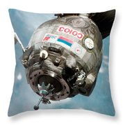 Iss Expedition 11 Crew Arriving Throw Pillow