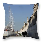 Istanbul Cruise Ship Terminal Throw Pillow