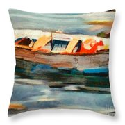 Istrian Fishing Boat Throw Pillow