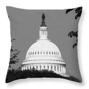 It Really Is Black And White Throw Pillow