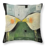 It Takes Two - Beak To Beak Throw Pillow