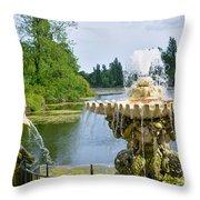 Italian Fountain London Throw Pillow