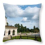 Italian Gardens London Throw Pillow