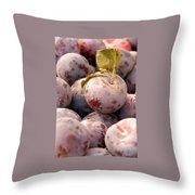 Italian Plums At Market Throw Pillow