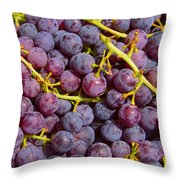 Italian Red Grape Bunch Throw Pillow