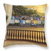 Italian View Throw Pillow by Diane Romanello