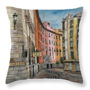 Italian Village 2 Throw Pillow