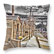 Italian Village-sydney Harbor Bridge Throw Pillow