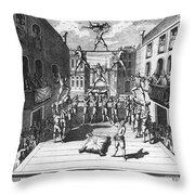Italy: Acrobats, C1722 Throw Pillow