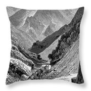 Italy: Carrara Mountains Throw Pillow