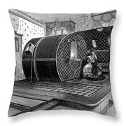 Italy: Health Institute, 1876 Throw Pillow