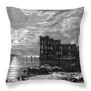 Italy: Palace Ruins Throw Pillow