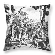 Italy: Protestant Martyrs Throw Pillow by Granger