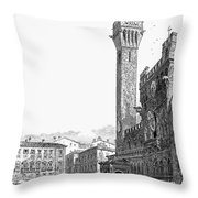 Italy: Siena, 19th Century Throw Pillow by Granger