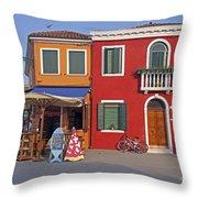 Italy Venice  Throw Pillow
