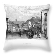 Italy: Verona, 1833 Throw Pillow