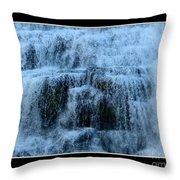 Ithaca Falls New York Closeup Throw Pillow
