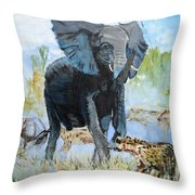 It's A Jungle Throw Pillow by Judy Kay