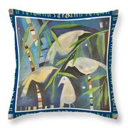 Its A Party Poster Image Throw Pillow