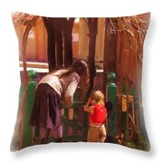 It's About The Gate Throw Pillow by Feva  Fotos