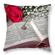 Its All There In Black And White Throw Pillow