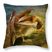 It's Cleaning Day By Pelicans Throw Pillow
