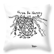 It's Happy Day Throw Pillow by Thelma Harcum
