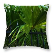 Its Pretty And Tropical In Key West  Throw Pillow