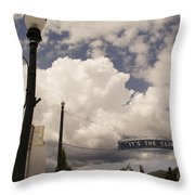 Its The Climate 4 Throw Pillow