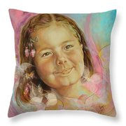 Ivana's Portrait Throw Pillow