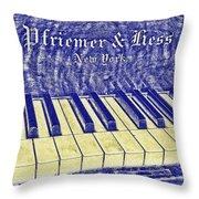 Ivory Blues Throw Pillow