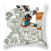 Iztlacoliuhqui, Aztec God Of Frost Throw Pillow